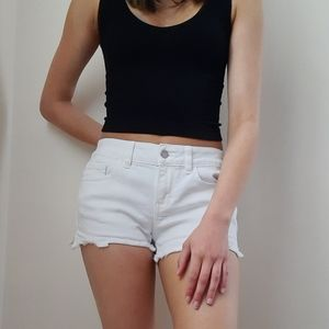 White Jean Shorts from Pink
